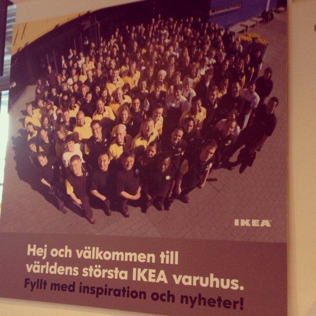 "The world's largest Ikea store is in ""Kungens Kurva"" in Stockholm, Sweden"
