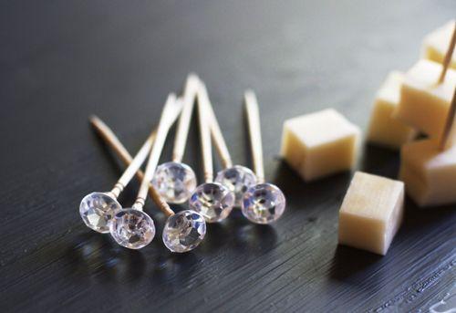 How to make Diamond Toothpicks via Lilyshop Blog by Jessie Jane.