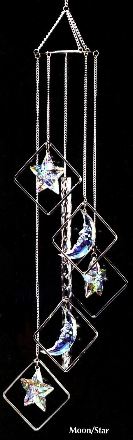Moon and Stars Wind Chimes