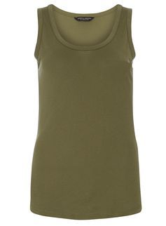 Khaki chunky bind vest