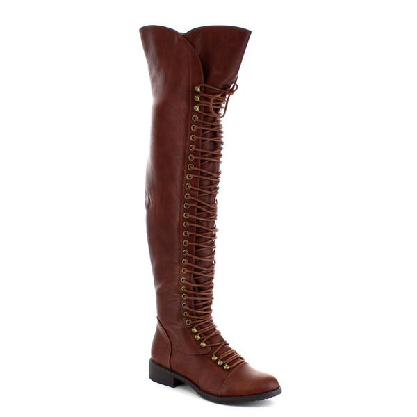 About R953. Mark and Maddux Travis-05 Women's Fashion Thigh High Combat Lace Up Boots | Overstock.com Shopping - The Best Deals on Boots