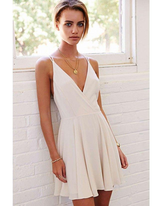 25  best ideas about White v neck dress on Pinterest   White v ...