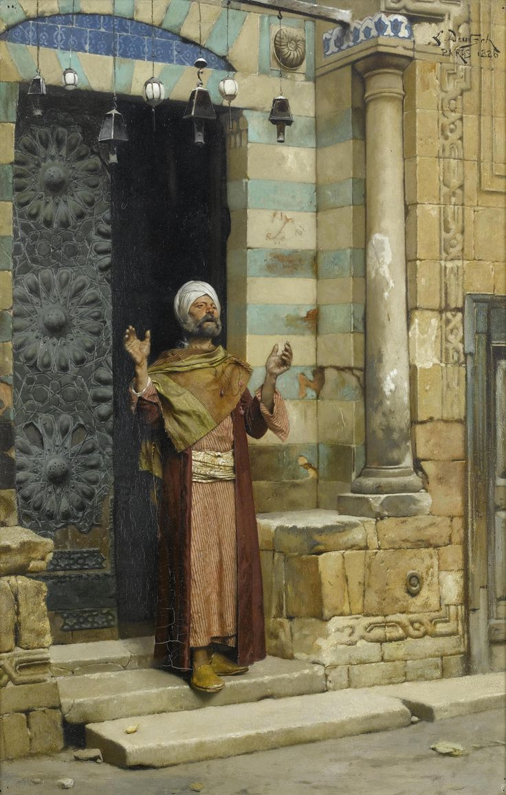 srednod: Ludwig Deutsch -At the Door of the Mosque