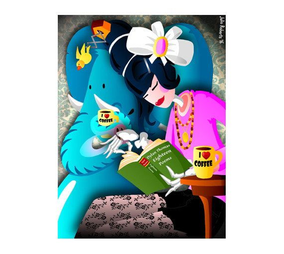 DOWNLOAD ISTANTANEO. Poster, Gin And Coffee, colori, Arte da appendere, Decorazione muro, Idea regalo.
