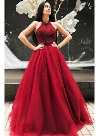 elegante rote abendkleider lang günstig tüll bodenlang abendmoden abiballkleider mit bildern