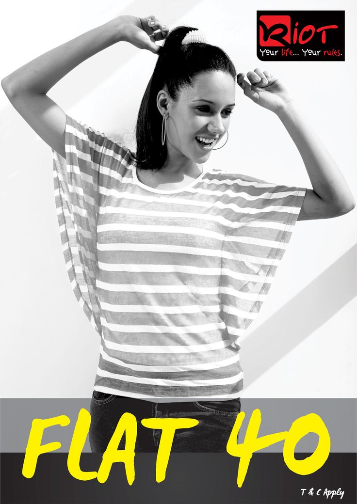 Swipe the offer...@ all riot stores and Riotjeans.com