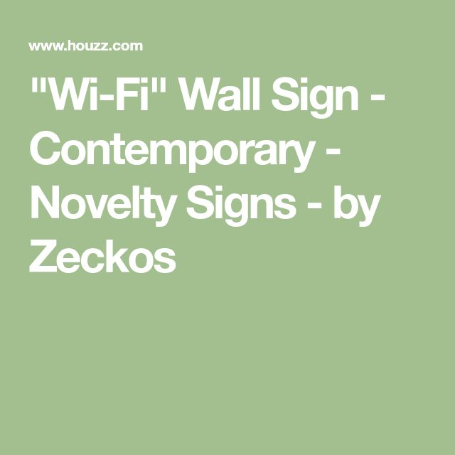 """""""Wi-Fi"""" Wall Sign - Contemporary - Novelty Signs - by Zeckos"""