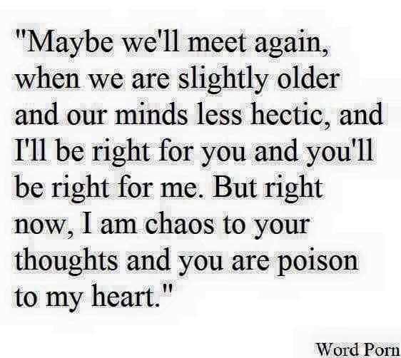 Chaos and poison, that's true