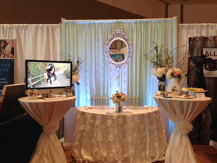 Pretty #wedding booth at the Premiere #Bridal Show
