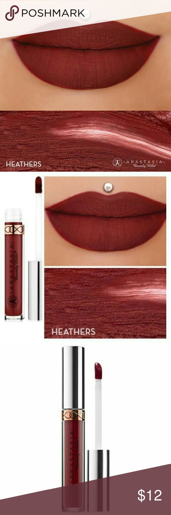 Anastasia Beverly Hills Heathers Liquid Lipstick CHECK OUT MY CLOSET FOR MORE ITEMS!  New  Never Used  Anastasia Beverly Hills Matte Liquid Lipstick  Color: Heathers Anastasia Beverly Hills Makeup Lipstick