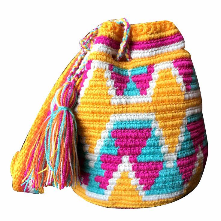 $40.00 Retail Price SMALL Mochila Wayuu Bag | RETAIL + WHOLESALE | Handmade and Fair Trade Wayuu Mochila Bags LOMBIA & CO. | www.LombiaAndCo.com