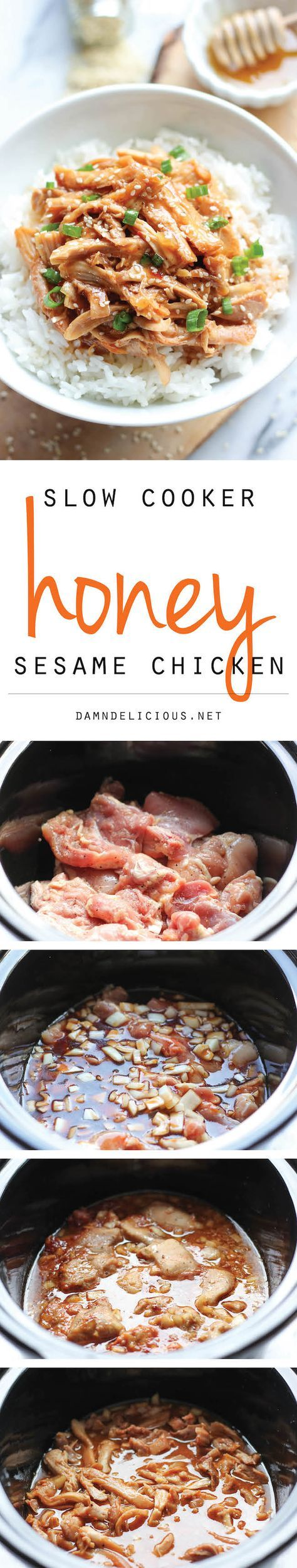 Slow Cooker Honey Sesame Chicken 8 points plus according to Weight watchers recipe builder made 4/6/2015 absolutely delicious