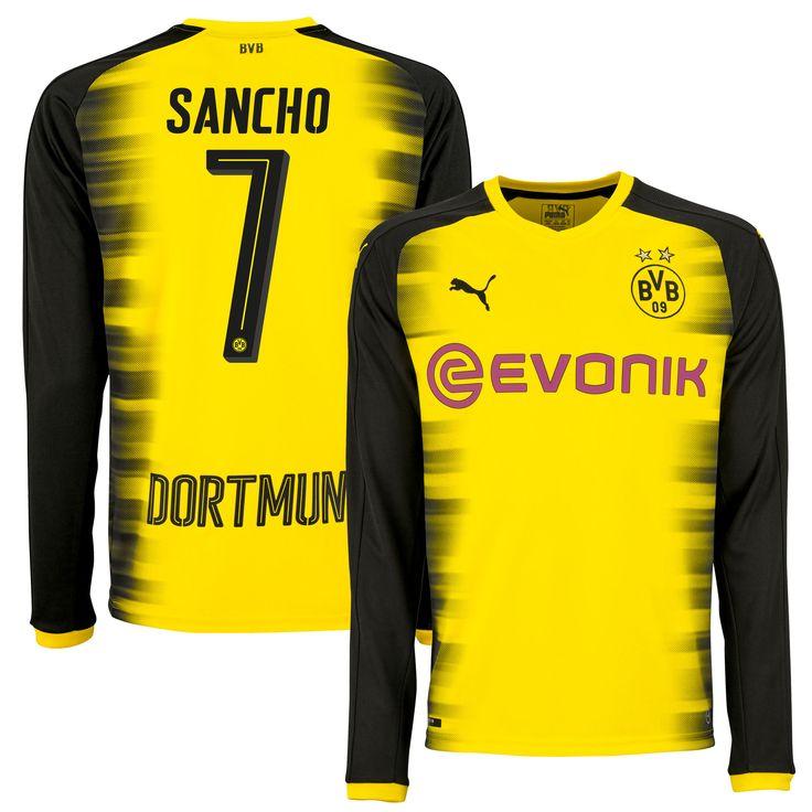Borussia Dortmund Champions League Shirt 2017-2018 (Lange Mouwen)  Sancho 7