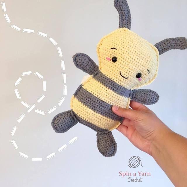 Kawaii bee amigurumi pattern - free crochet pattern | Crochet bee ... | 640x640