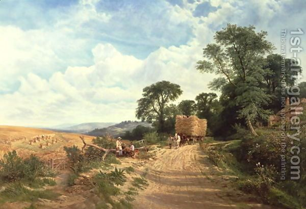 Landscape - Harvest Time 1865 by George Vicat Cole