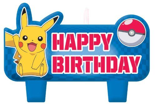 Pokemon Molded Cake Candle Set 4 Piec...: Cakes Candles, Pieces Pikachu, Birthday Sets, Happy Birthday, Birthday Parties, Cakes Supplies, Moldings Cakes, Pikachu Happy, Candles Sets