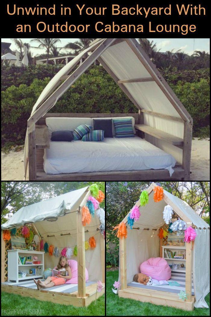 Entspannen Sie sich in Ihrem Garten mit dieser gemütlichen DIY Outdoor Cabana Lounge!