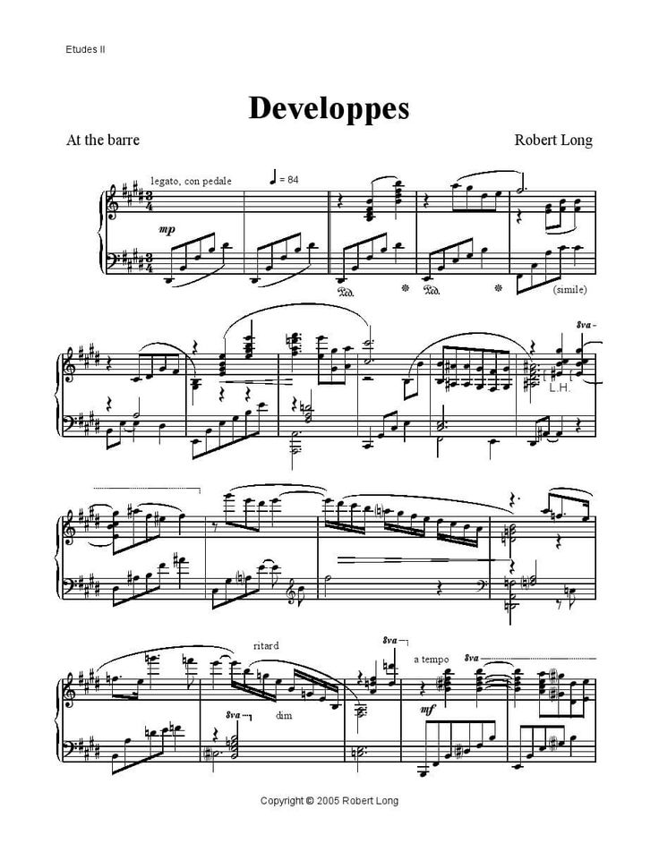 I have finally (finally!) completed my project of creating sheet music for ballet class from my Etudes II album. All selections are included and ready in pdf format.  For more information, please visit http://www.rlongballetmusic.com/sheet-music-for-ballet-class-etudes-ii/