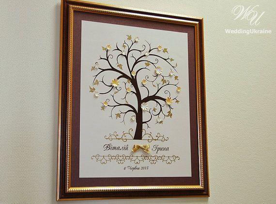 Árbol de la boda libro de visitas de huellas por WeddingUkraine