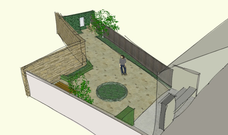 See animated video of a garden design using Google Sketchup