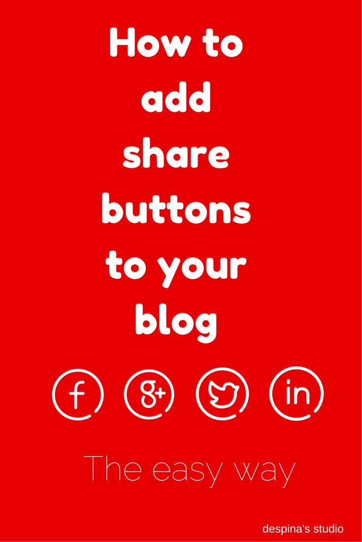 despina's studio: How to add social sharing buttons to your blog