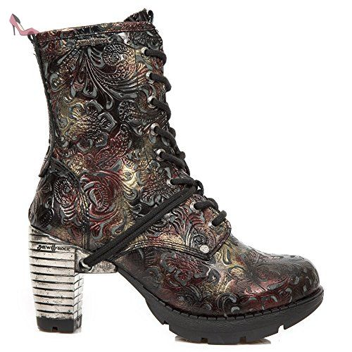 New Rock Stiefel Boots Damen Vintage gothic rot M.TR001-S23