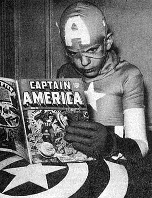 i like to think that Captain America reads his own comic like a manual