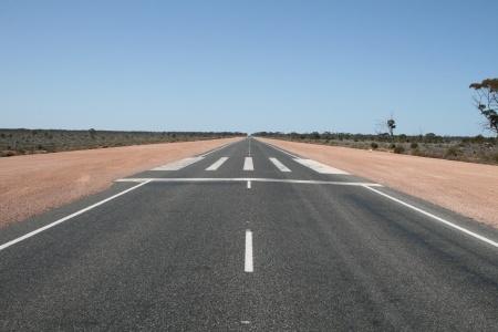 Nullarbor Airstrip on main road