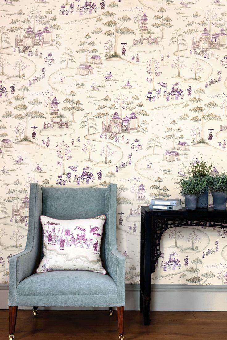 Nina Campbell Cathay Wallpaper