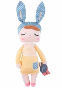 Metoo Angela knuffel pop, konijn gele jurk Kanindocka knuffelpopje, Lapin doll