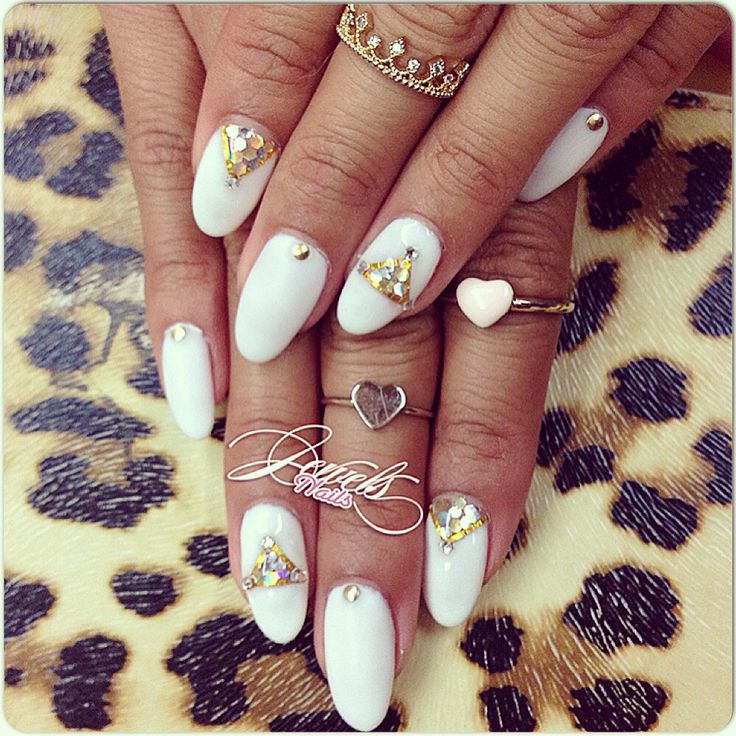 12 best MY NAILS BY ME images on Pinterest   Jewel nails, Stiletto ...