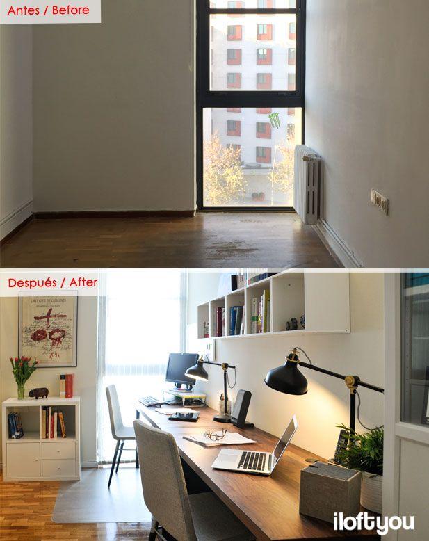 #proyectollull #iloftyou #interiordesign #interiorismo #barcelona #ikea #ikealover #ikeaaddict #antesdespues #beforeafter #billy #kallax #eket