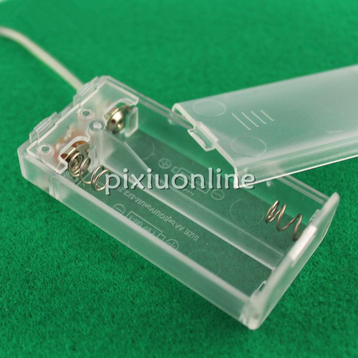 1pc J021 Transparent Battery Box 2 AA Battery with Switch and Wire Environmental ABS Material Model Parts Free Shipping Russia