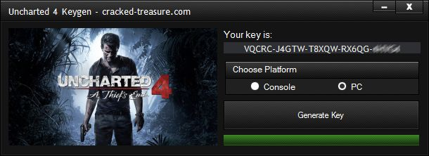license key for uncharted 4