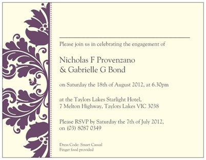 Engagement Invite Option 1