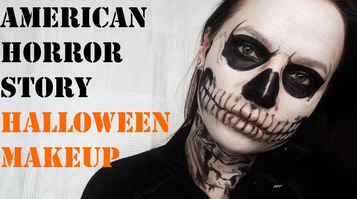 Halloween makeup tutorial American horror story Tate Langdon skull