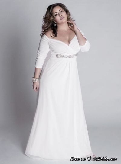 If you are a full-figured bride, plus size casual wedding dresses in A-line style would be perfect. Description from alluringgown.com. I searched for this on bing.com/images