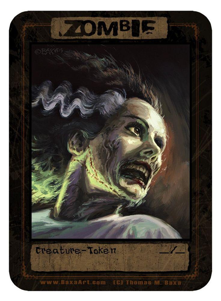 Zombie Bride Token for MTG (Thomas M. Baxa)