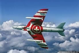 "Patrouille Suisse, Hawker Siddeley Mk. 58 ""Hunter"""