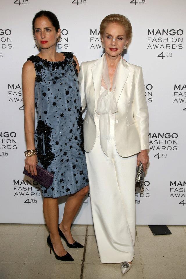 Adriana & Carolina Herrera at  MANGO Fashion Awards - 4th edition