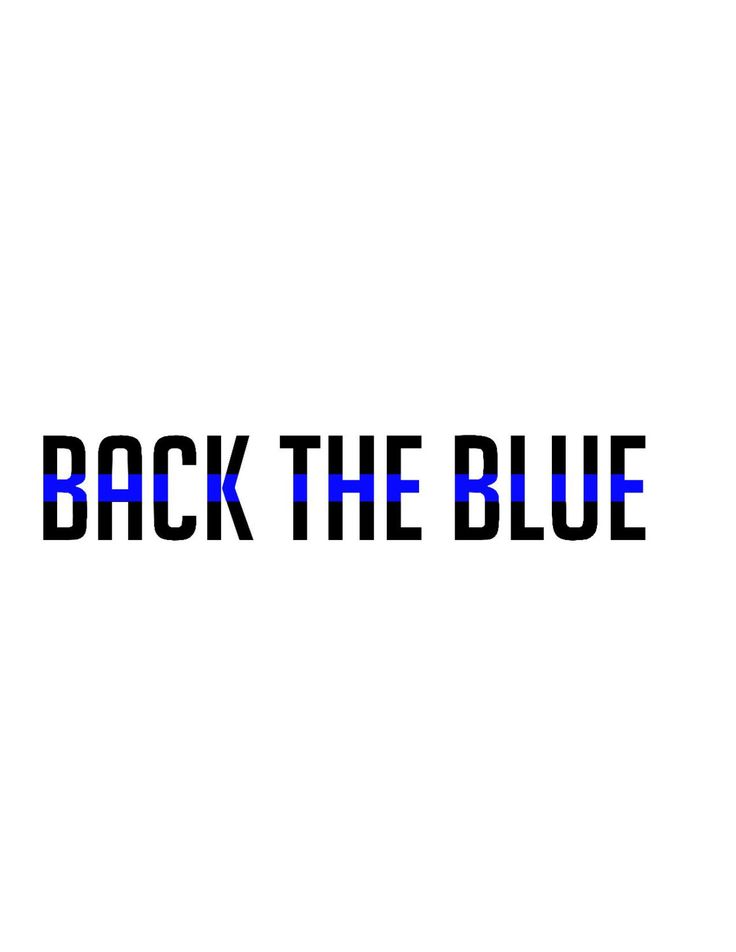 Back The Blue Police Lives Matter Decal - Yeti Decal - Car Decal - Support - Police Wife - Police Family - Back The Blue - Sticker by CustomCreationsByCP on Etsy