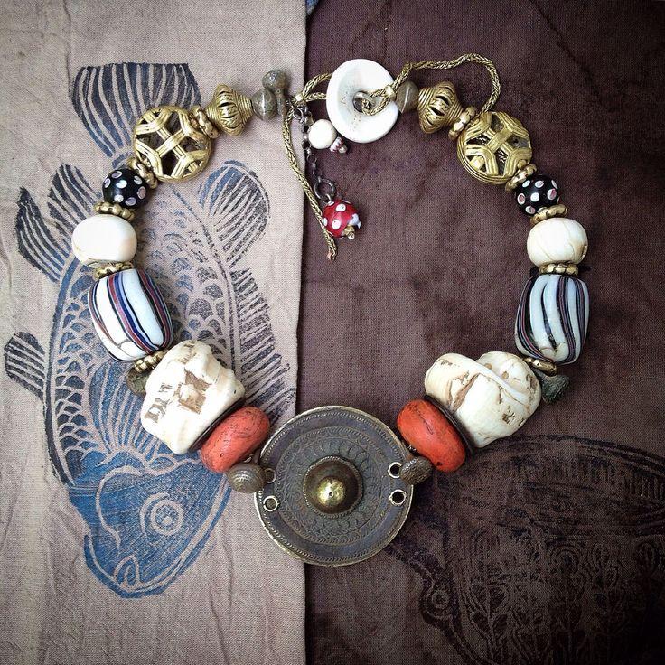 Купить Бусы-чокер НАГА - традиционное украшение, племенное украшение, африканский стиль, восточный стиль
