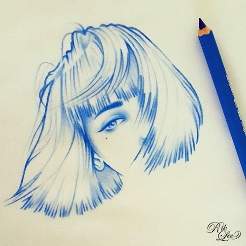 Drawings & Distractions - Blue Monday Girls