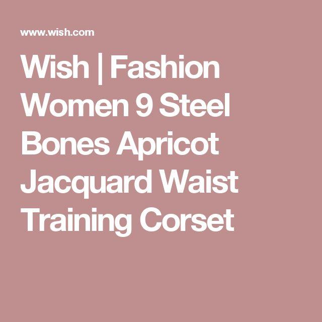 Wish | Fashion Women 9 Steel Bones Apricot Jacquard Waist Training Corset