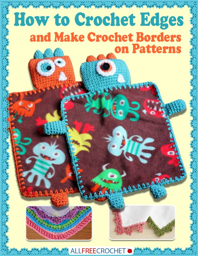 Free eBook from AllFreeCrochet ... packed with great stuff like Monster Fleece Lovey Blankets, Lace Napkin Edgings, a Pineapple Swirl Edging, a Zig Zag Edging, and so much more. ... http://www.petalstopicots.com/2013/06/free-crochet-edging-ebook/