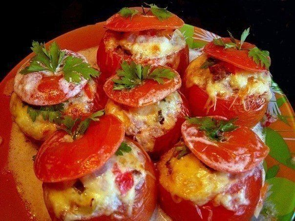 Tomatoes with a cap