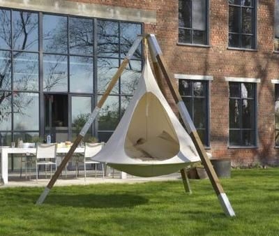 white single cacoon with tripod, white outdoor hammock for sale