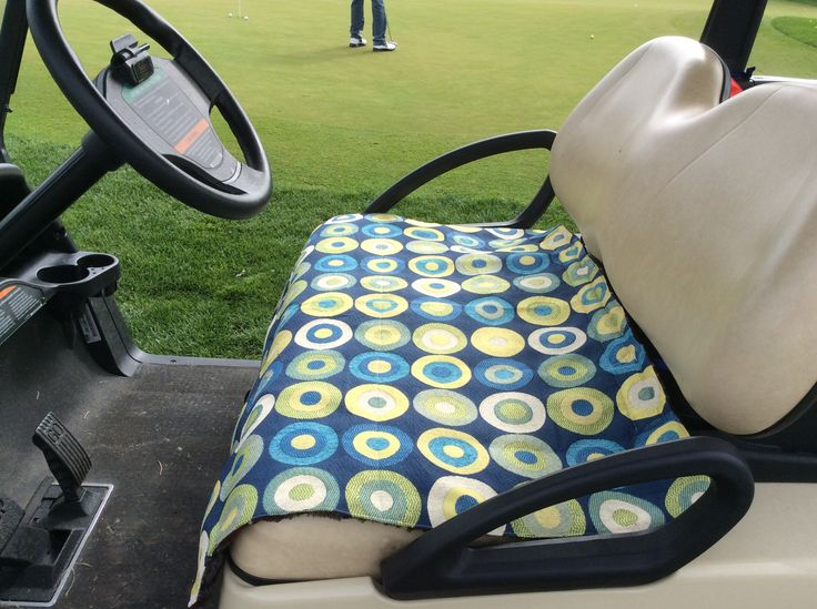 Make your own golf car seat cover