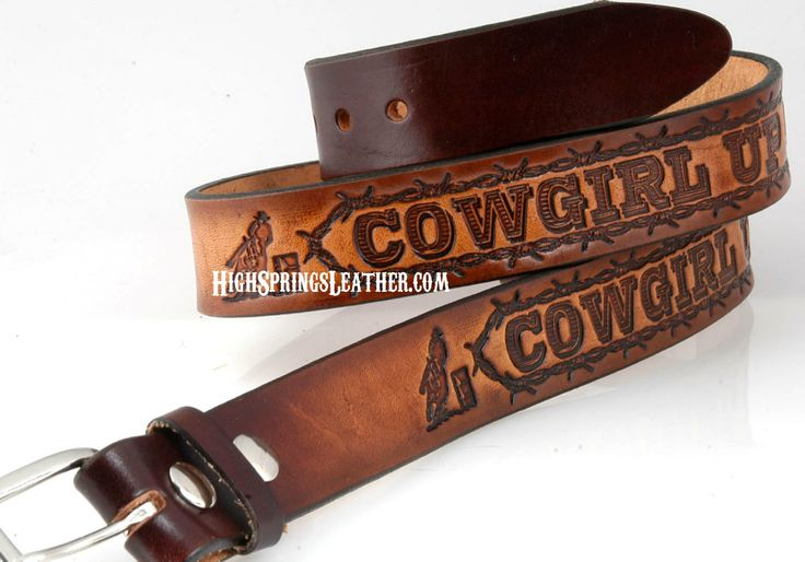 up leather name belt