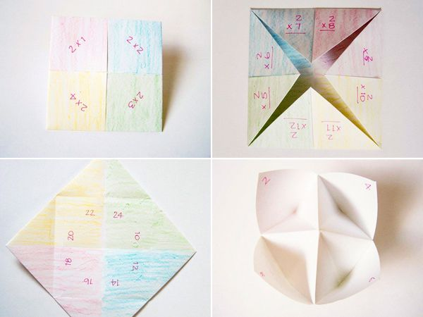 Times Table Fortune Tellers (with printable tally sheets) · Playful Learning